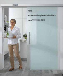 Automatische Glazen Deuren.Automatische Glazen Schuifdeur Vanaf 1399 00 Eur Excl Btw