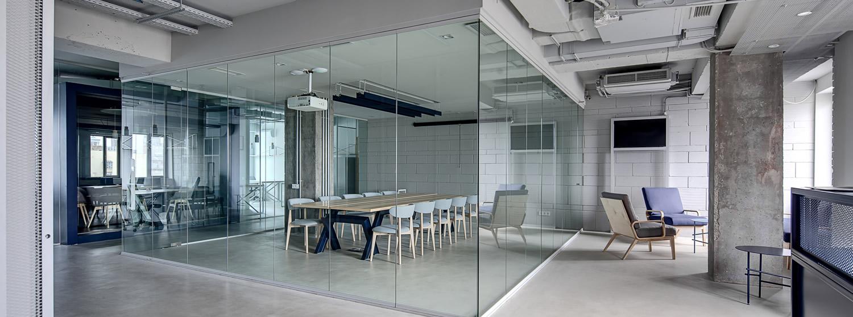 Glas loft glazen wand kantoor